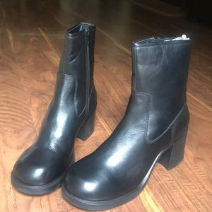 UO Square toe heeled boots